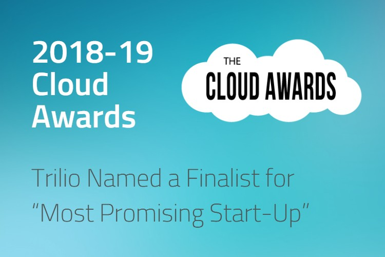 "Trilio Named a Finalist for ""Most Promising Start-Up"" in the 2018-19 Cloud Awards"