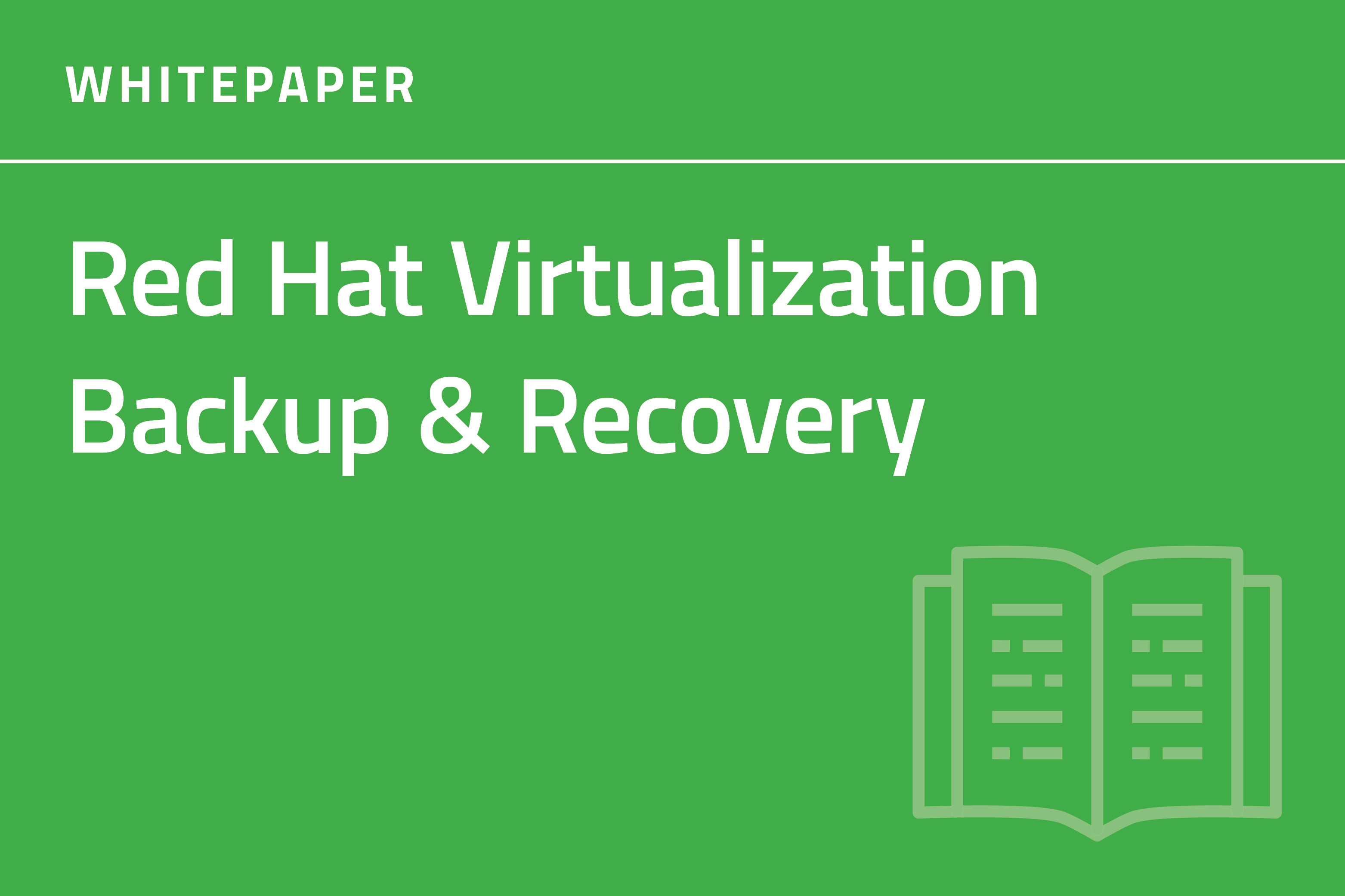 RHV Backup and Recovery Whitepaper